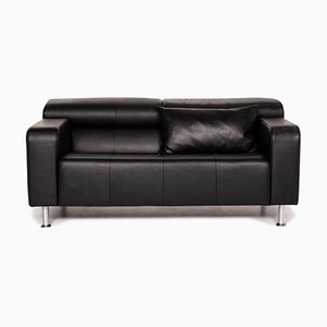 Black Leather AK 422 2-Seat Sofa from Rolf Benz