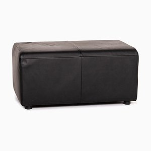 Black Leather AK 422 Ottoman from Rolf Benz