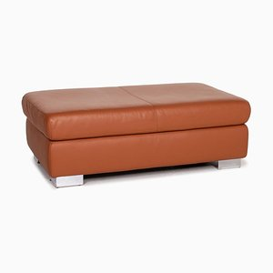 Brown Cognac Leather Ottoman from Ewald Schillig