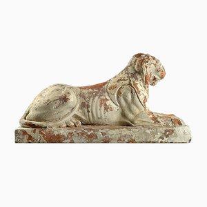 Löwe Statuen aus Terrakotta, 2er Set