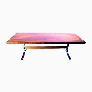 Solid Teak Top Coffee Table, 1960s