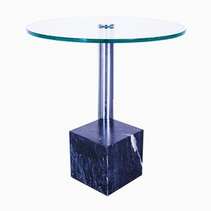Large Edition Marble Side Table with Glass Top by Hank Kwint for Metaform, 1990s