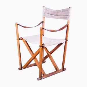 Klappbarer Dänischer Safari Armlehnstuhl von Mogens Koch für Interna, 1960er