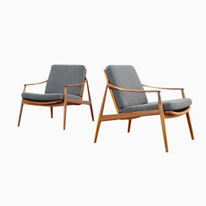 Teak Easy Chairs by Hartmut Lohmeyer for Wilkhahn