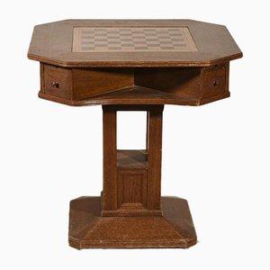 Italienischer Spieltisch aus Eiche mit furniertem Holz, 1970er