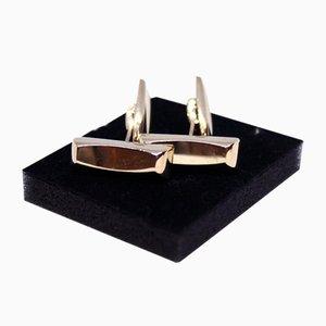 Manschettenknöpfe aus 14 Karat Gold von HS, 2er Set