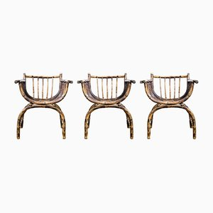 Art Deco Rattan Chairs, 1920s, Set of 3
