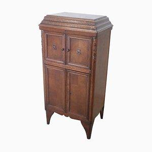 Vintage Oak Wood Cabinet, 1930s