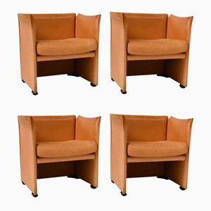 Vintage Lounge Chairs by Mario Bellini for Cassina, 1970s, Set of 4