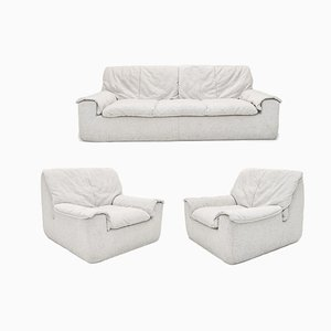 Kirk Sofa & Armchairs by Annie Hieronimus for Cinna, 1970s, Set of 3