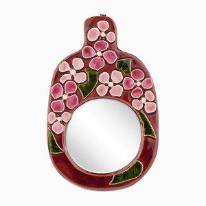 Specchio in ceramica di Mithé Espelt, anni '60
