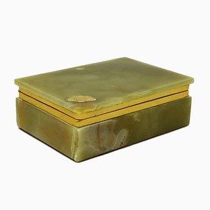 Boîte Vintage en Onyx Vert, Italie, 1960s