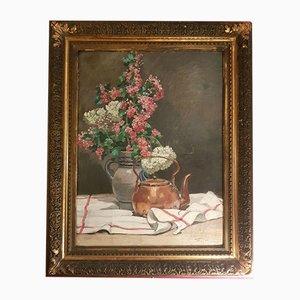 Öl auf Leinwand Stillleben Gemälde, 19. Jahrhundert