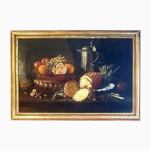 Natura morta con ananas, XIX secolo