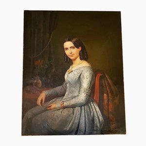 Portrait einer jungen Frau von Pierre Bonirote, 1844