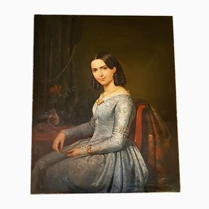 Portrait of a Young Woman by Pierre Bonirote, 1844