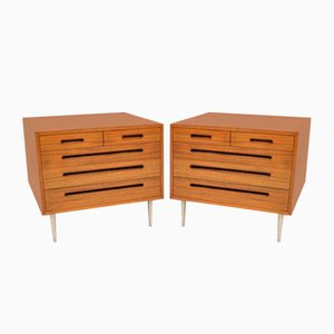 Vintage Mahogany Chests by Edward Wormley for Dunbar, 1960s, Set of 2