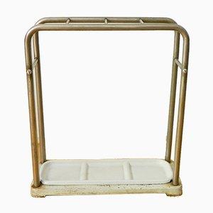 Portaombrelli vintage Bauhaus in acciaio tubolare e ghisa, set di 2