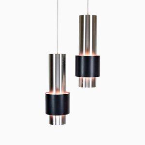Zenith Pendant Lamps by Jo Hammerborg for Fog & Mørup, Denmark, 1960s, Set of 2