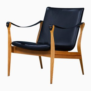 Danish Model #4305 Easy Chair by Karen & Ebbe Clemmensen for Fritz Hansen, 1959