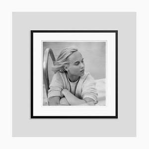 Patsy Pulitzer Silver Fibre Gelatin Print Framed in Black by Slim Aarons