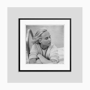 Patsy Pulitzer Silver Fibre Gelatin Print Framed in Black by Slim Aarons