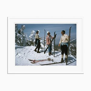 Sugarbush Skiing Oversize C Print Framed Black by Slim Aarons