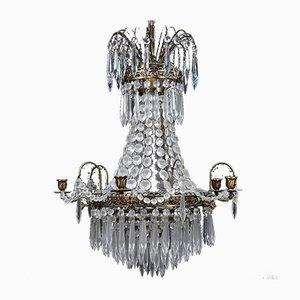 Lámpara de araña Prisma antigua