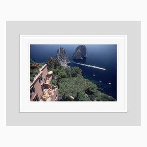 Capri Hotel Oversize C Print Framed in White by Slim Aarons