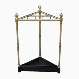 Victorian Brass Corner Umbrella Stand