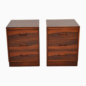 Vintage Danish Rosewood Bedside Chests, 1960s, Set of 2