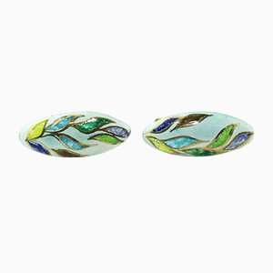 Enamel Earclips by Atelier Casanova for Atelier Casanova, 1950s, Set of 2