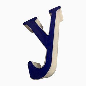 Vintage Plexiglas Letter Y Sign