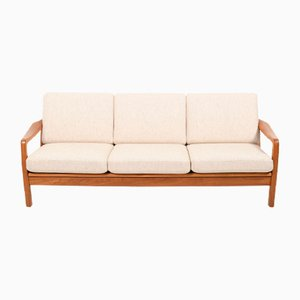 Danish Teak 3-Seat Sofa Daybed by Jens Juul-Kristensen for JK Denmark, 1970s