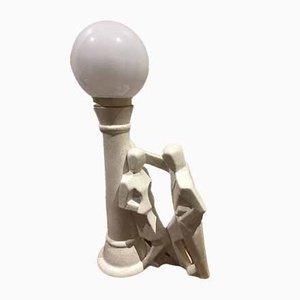 Lampe de Bureau en Céramique, 1980s