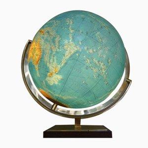 Beleuchteter Vintage Globus aus Glas & Messing von Columbus Oestergaard, 1960er
