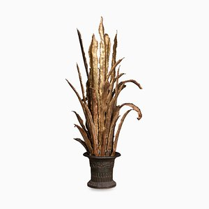 French Floor Lamp in the Shape of a Sansevieria, 1980s
