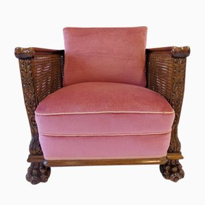 German Rattan Armchair, 1930s