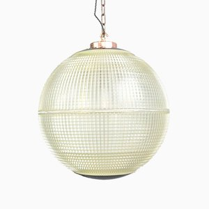 Large Parisian Globe Light from Holophane, 1950s