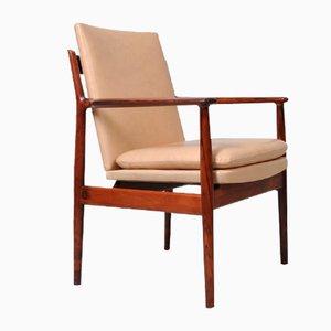 Palisander Armlehnstuhl von Arne Vodder für Sibast, 1960er
