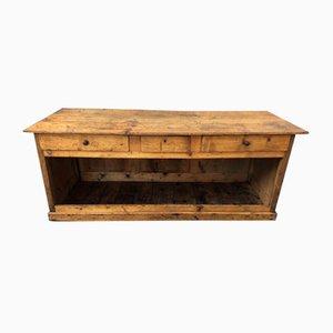 Antique Pine and Oak Store Counter, 1900s