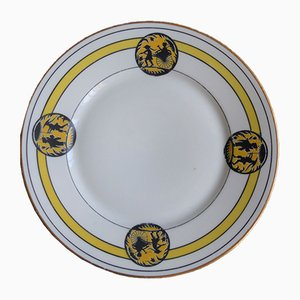 Art Nouveau Porcelain Plates with Oriental Scene from Limoges, Set of 10