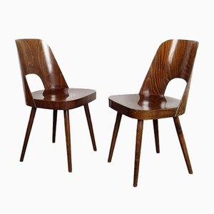 Esszimmerstühle von Oswald Haerdtl für TON, 1960er, 2er Set