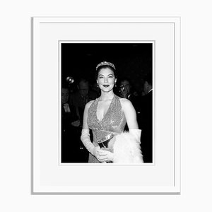 Ravishing Ava at the Premier of Barefoot Contessa Archival Pigment Print Framed in White by Everett Collection