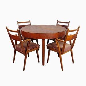 Tavolo da pranzo con sedie di Jitona, anni '60