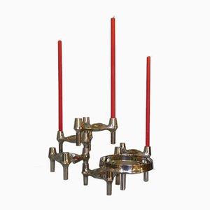 Modularer Mid-Century Kerzenhalter aus Chrom von Ceasar Stoffi & Fritz Nagel für BMF, 1960er, 6er Set