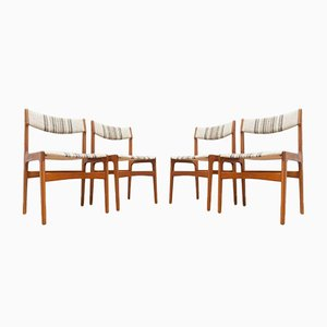 Mid-Century Teak Dining Chairs by Erik Buch for O D Mobler, 1960s, Set of 4