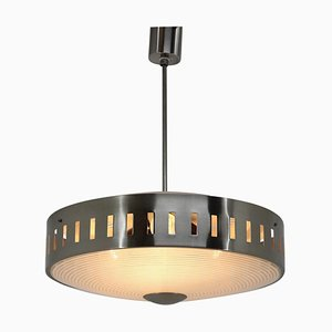 Space Age Metal UFO Pendant Lamp, 1970s