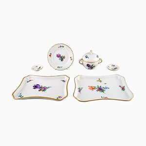Royal Copenhagen Light Saxon Flower in Hand-Painted Porcelain, Set of 6