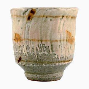 Goblet Vase in Glazed Ceramic by Takashi Ohyama, Japan, 1980s